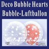 Deco Hearts, Bubble Luftballon (mit Helium) (FHGE-KAE 15610-22)