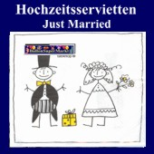 Hochzeitsservietten-Just Married (Hochzeitsservietten-Just-Married-27034)