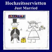 Hochzeitsservietten-Just Married (Hochzeitsservietten-Just-Married-27034)
