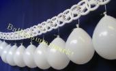 Luftballons zur Hochzeit mit Herzrahmengirlanden, Hochzeitsgirlanden