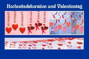 Dekoration mit Herz, Festdekoration und Partydekoration mit Herzen der Liebe