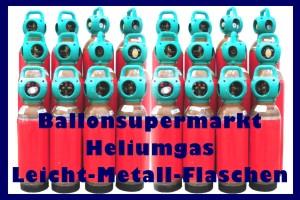 Ballongas in Leicht-Stahlflaschen