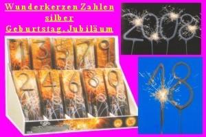 Zahlenwunderkerzen Silvester