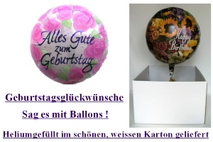 "Folienballons""Geburtstag"" - Folienballons""Geburtstag"""
