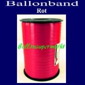 Ballonband, Luftballonbänder 1 Rolle 500 m, Rot (Ballonband-Rot-Rolle-Bb-Ro-01)