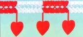 Girlande mit Herzen in Rot-Weiß, Dekoration zur Liebe