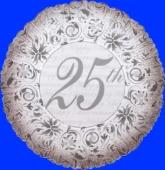 Hochzeit Silberne Hochzeit inkl. Helium (FHGE DEv 665056)