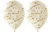 """Luftballons """"Just Married""""  Nobel 100 Stück (LRMM 100 E 52 370)"""