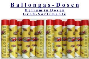 Ballongas Dosen Sortimente - Ballongas Dosen Sortimente