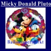 Luftballon Mickey Donald Pluto, Folienballon mit Ballongas (FHGE51)