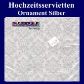 Hochzeitsservietten-Ornament-Silber (Hochzeitsservietten-Ornament-Silber-20758)