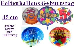 Geburtstag 45 cm Folienballons (inkl. Helium) - Geburtstag 45 cm Folienballons (inkl. Helium)