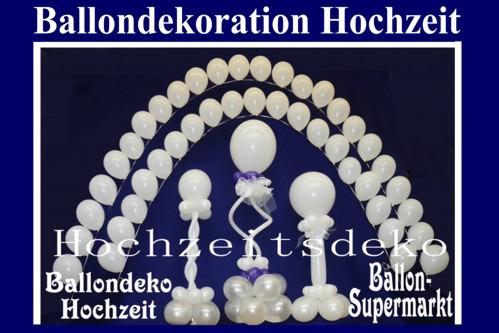 Hochzeit-Ballondekoration