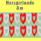 Herzgirlande / Rot-Weiß / 16cm (FD 24512)
