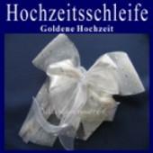 Hochzeitsschleife, Hochzeitsdeko-Zierschleife, Goldene Hochzeit (Hochzeitsdeko-Schleife D 04)