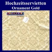 Hochzeitsservietten-Ornament-Gold (Hochzeitsservietten-Ornament-Gold-20757)
