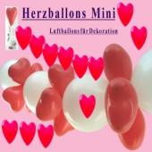 Herzballons Latex 12-14cm 100 Stück (LHDeko12-14-100er)