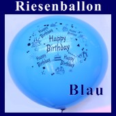 Riesenballon-Geburtstag-Happy-Birthday-Blau-(Helium) (Riesenballon-Geburtstag-Happy-Birthday-GF-132-AH-Blau)