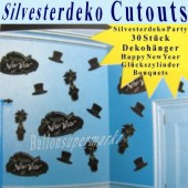 Silvester Dekoration Cutouts (Silvester Deko 03 194321)