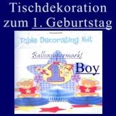Tischdekoration zum 1. Geburtstag, Junge (Tischdeko-1.-Geburtstag-Boy-241016)