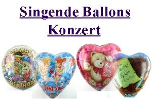 Singende Ballons ohne Helium