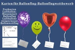 Ballonflugkarten vom Ballonsupermarkt-Onlineshop
