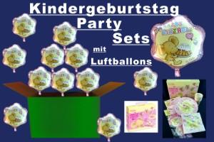Kindergeburtstag Party-Sets mit Luftballons - Kindergeburtstag Party-Sets mit Luftballons