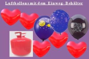 Luftballons und Helium / Einwegbehälter - Luftballons und Helium / Einwegbehälter