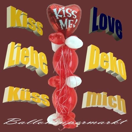 Küss mich, kleine Ballondekoration für die Liebe