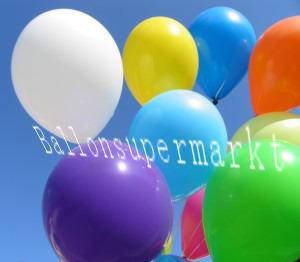 Luftballons in bunten Farben sollte man sich nicht versagen