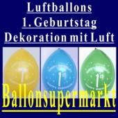 Luftballons 1st Birthday 10 Stück, 1. Kindergeburtstag Luftballon-Dekoration (1.-Geburtstag-Luftballons-D110902A)