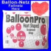 Ballon-Netz-Herz, Fall-Netz für 300 Luftballons (Ballon-Netz-Herz 04/3809)