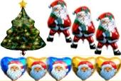Glückwünsche zu Weihnachten mit Luftballons