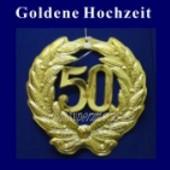 Goldene Hochzeit, 50 Jahre, Zahlendeko (Goldene Hochzeit Deko 01)