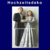 Hochzeitspaar, Hochzeitsdeko, Silberne Hochzeit 01 (Hochzeitsdeko-04)