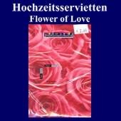 Hochzeitsservietten-Flower of Love (Hochzeitsservietten-Flower-of-Love-25968)