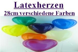 Latexherzen / 28cm verschiedene Farben - Latexherzen / 28cm verschiedene Farben