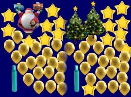 Weihnachten mit Luftballons, Weihnachtsluftballons, Nikolaus-Luftballons
