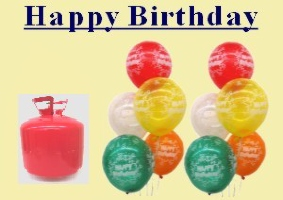 Luftballons und Helium Geburtstag / Einwegbehälter - Luftballons und Helium Geburtstag / Einwegbehälter