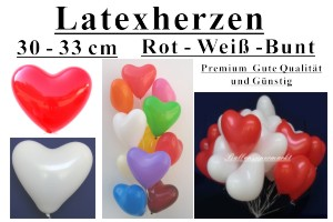 Latexherzen / 30cm Standardgr��e - Latexherzen / 30cm Standardgr��e