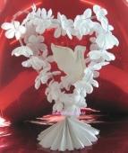 Hochzeit Dekoration Tischdeko All in White (Am D 248205)