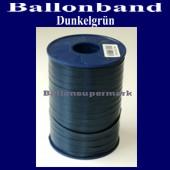 Ballonband, Luftballonbänder 1 Rolle 500 m, Dunkelgrün (Ballonband-Dunkelgruen-Rolle-Bb-DG-01)