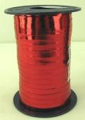 Ballonband, Luftballonbänder 1 Rolle 400 m, Rot Metallic (Ballonband-Rot-Metallic-Rolle-Bb-MR-01)