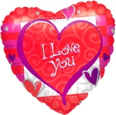 I Love you Heart Forever (heliumgefüllt) (FHGE ILY 02)