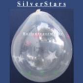 Sterne, Silver Stars, Geschenkballons, Stuffer (Geschenkballons Silver Stars 01)