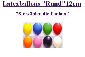 Latexballons 12cm / Single Farben - Latexballons 12cm / Single Farben