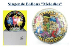 Singende Ballons optimiert für den Versand