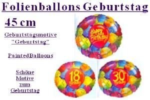Geburtstag Folienballons Painted Balloons (inkl. Helium) - Geburtstag Folienballons Painted Balloons (inkl. Helium)