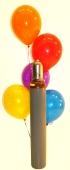 Maxi-Set 3, 100 bunte Luftballons Kristall mit Helium (gemischt) (BGS1MX6)