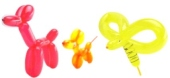 100 St�ck Modellierballons + Aufblaspumpe (LMB 03)